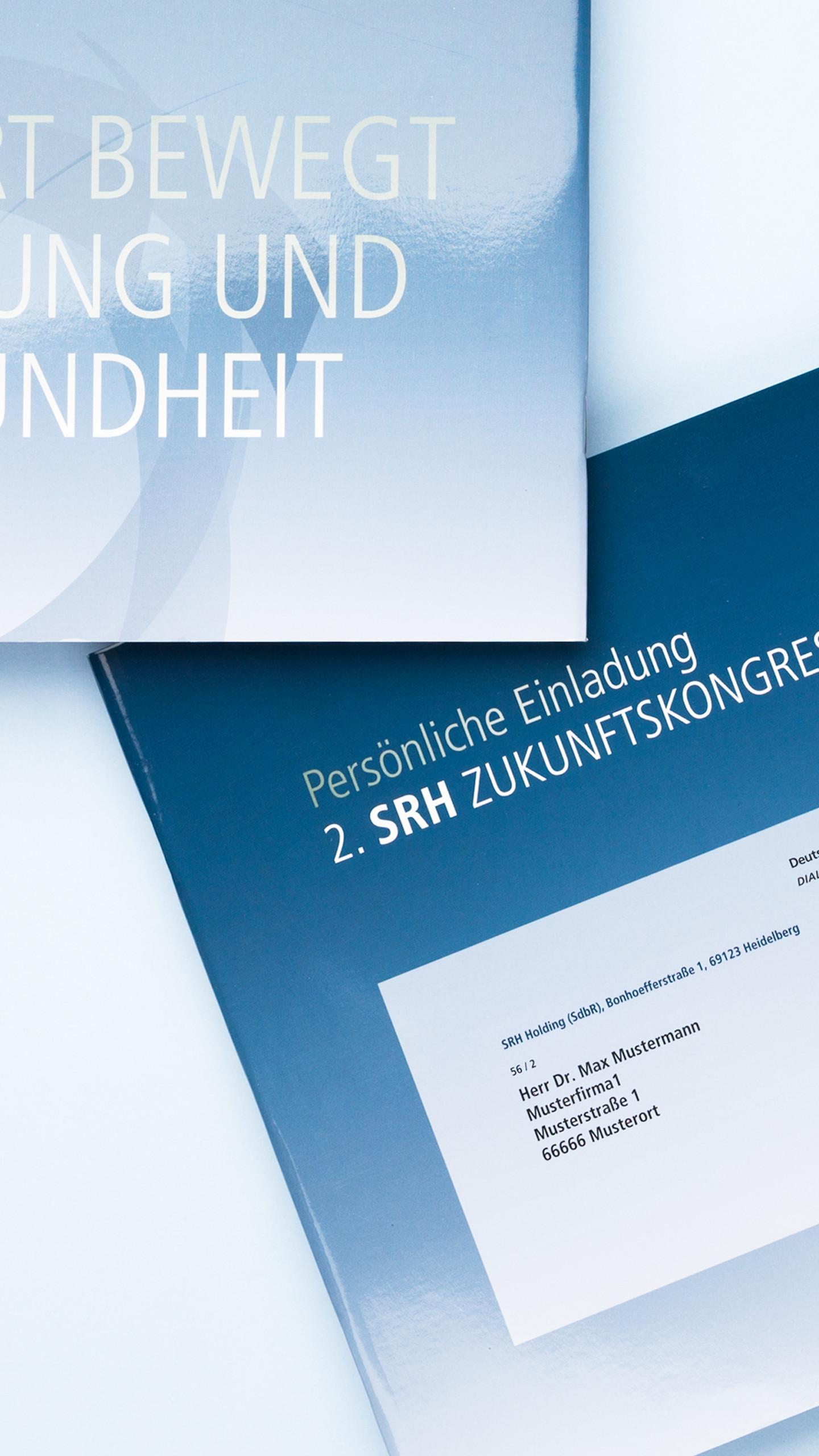 SRH Zukunftskongress, hochwertiges Einladungs-Mailing