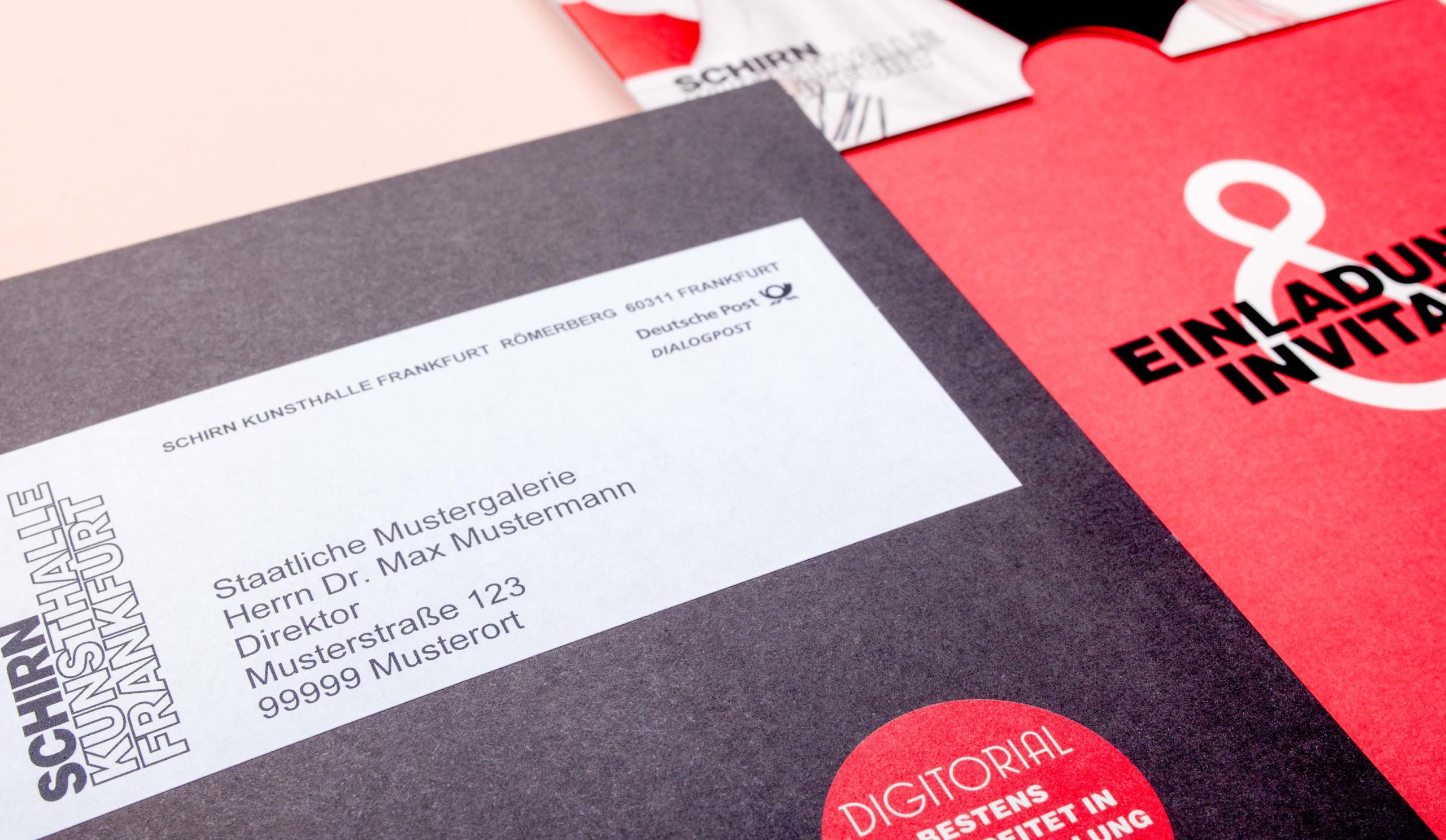 Einladung Papier Personalisierung Mailing Print Lettershop
