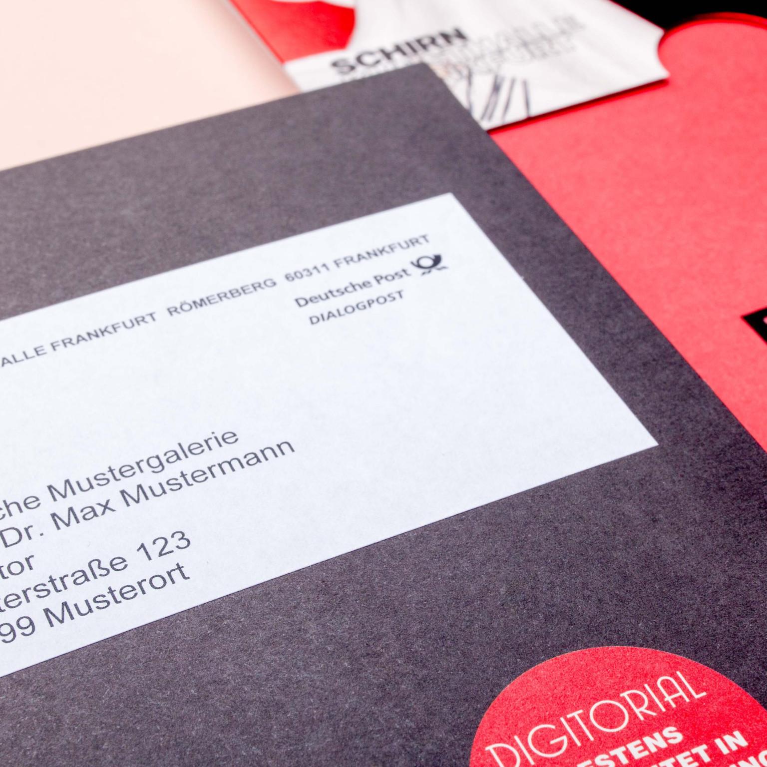 Schirn Kunsthalle, hochwertige Print-Einladung